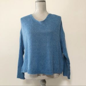 Anthropologie Indi and Cold mohair boxy sweater